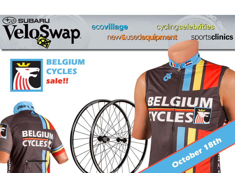 Belgium Cycles will be at VeloSwap 2014 in Denver with inventory on sale to clear the way for 2015 cycling gear!